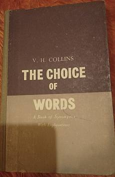Книга The choice of words